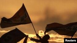 Протесты сторонников египетской оппозиции на площади Тахрир. Каир, 10 февраля 2011 года.