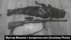 Ружье, которое Азамат Кяов якобы нашел на чердаке дома своей тёти