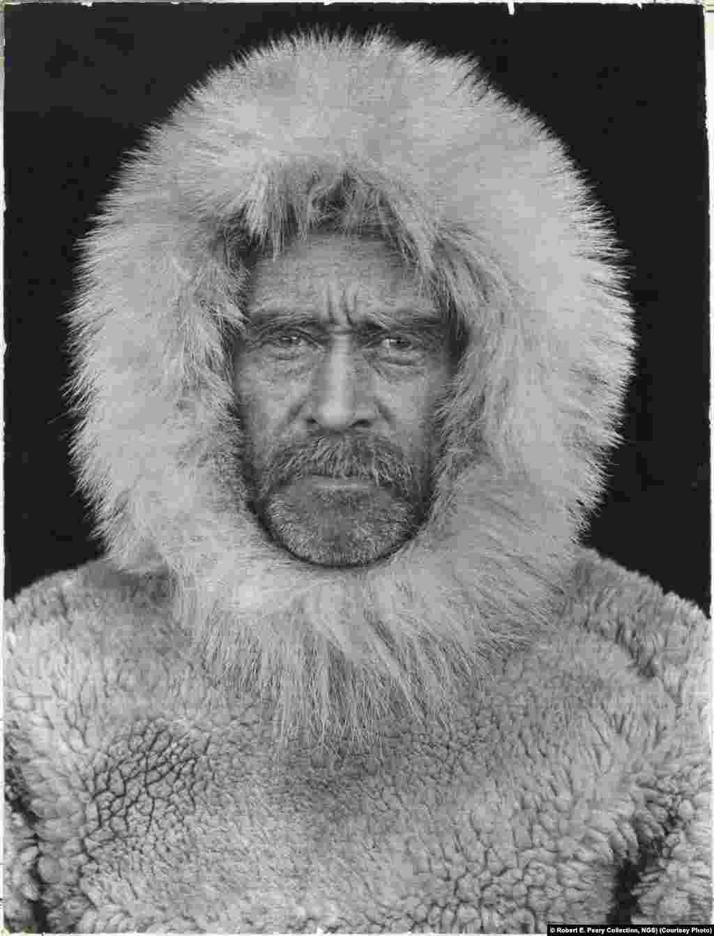 National Geographic-funded Commander Robert E. Peary's 1909 expedition to the North Pole. Whether Peary and his assistant, Matthew Henson, reached the pole or not, they came closer to that goal than anyone before them.