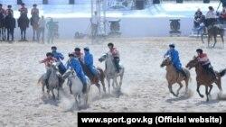 Соревнования по кок бору на Всемирных играх кочевников