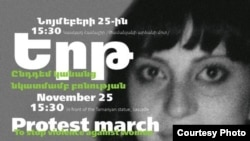 Armenia - the poster of the protest march to stop violence against women