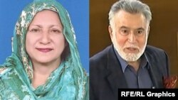 Shaheen Raza (left), a member of the ruling Tehrik-e-Insaaf Party, and Syed Fazal Agha, the former governor of Balochistan Province, both died of COVID-19 on May 20.
