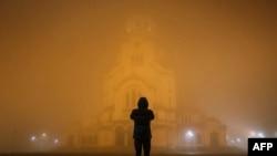 Замърсяването на въздуха в София. Снимката е архивна.