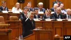 Victor Ponta în Parlament, 29 septembrie 2015