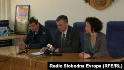 Rade Ristanović i Milan Stamatović na konferenciji za novinare