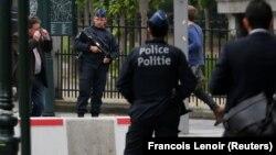 Полицейский патруль в Бельгии (архивное фото)