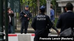 Policija patrolira Briselom, fotoarhiv