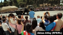 Azerbaijan staged a military parade through the streets of Baku on June 26.