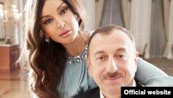 Әзербайжан президенті Ильхам Әлиев пен әйелі Мехрибан Әлиева.