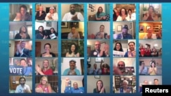 Convenția Națională a partidului Democrat: aplauze virtuale. Baza Convenției este la Milwaukee, statul Wisconsin, 17 august 2020.