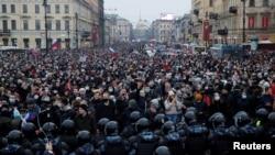 تظاهرات در سنپترزبورگ