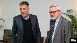 Ekspertët e historisë të Maqedonisë së Veriut dhe Bullgarisë, Dragi Gjorgiev dhe Angel Dimitrov.