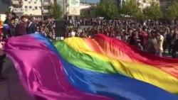 A doua paradă gay din istorial statului Kosovo
