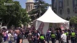 Unul din liderii protestelor din Georgia a fost arestat
