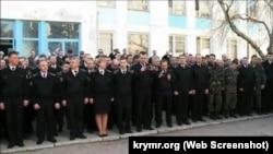 Офицерские сборы в штабе ВМС ВСУ в Севастополе, 3 марта 2014 года