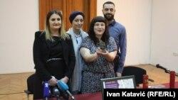 Sa konferencije za tisak u Zemaljskom muzeju BiH, 26. svibnja 2016.