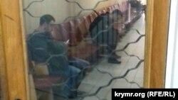 Коридор Верховного суду Криму, де відбулись засідання в закритому режимі