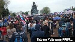 Протесты на Марсовом поле в Петербурге 12 июня 2017 года