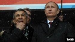 Рустам Минниханов и Владимир Путин (архивное фото)