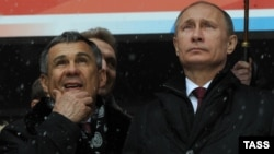 Рустам Минниханов и Владимир Путин. 19 марта 2013 года