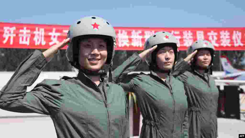 Chinese authorities said 35 women had been picked for the pilot training, which included astronaut training, from some 200,000 high-school graduates between 17 and 20 years of age.
