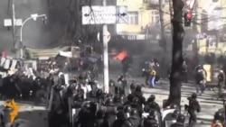 Violent, Dramatic Clash In Ukraine's Capital