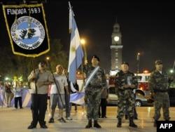 Буэнос-Айрес. Один из недавних парадов аргентинских ветеранов войны 1982 года