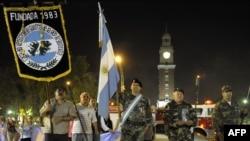 Демонстрация аргентинских ветеранов военного конфликта 1982 года