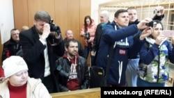 Журналісты, якія прысутнічалі на працэсе над Шчыраковай