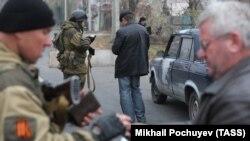 Блокпост в Донецке, ноябрь 2014