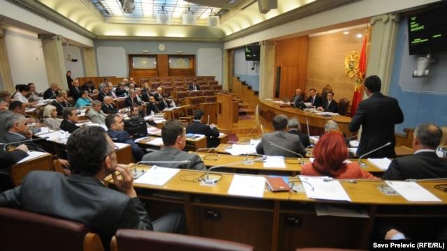 Jedna od sjednica crnogorskog parlamenta