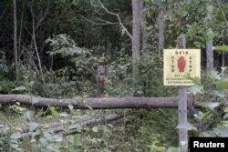 Эстония билігінің мәлімдеуінше, Эстон Кохвер осы жерде ұсталған. Эстония, Мииксе селосының маңы, 7 қыркүйек 2014 жыл.