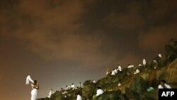 حجاج على جبل عرفة جنوب شرق مكة في السعودية