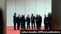سران عضو سازمان در چینگدائو، چین، گرد آمدهاند