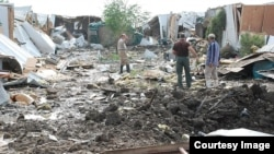 خرابیهای ناشی از موشکباران اردوگاه لیبرتی