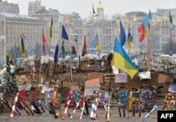 Одна з барикад Майдану