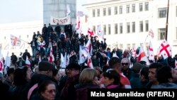 Тбилисидаги норозилик намойишидан лавҳа, 2015 йилнинг 21 марти.