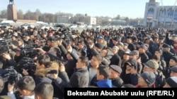 Astăzi la demonstrația de la Bișkek