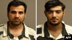 A combo photo shows Iraqis Waad Ramadan Alwan (left) and Mohanad Shareef Hammadi