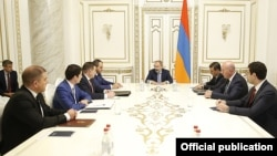 Armenia - Prime Minister Nikol Pashinian discusses with the heads of law-enforcement agencies the fight against corruption, Yerevan, September 20, 2019.