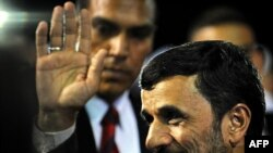 Iranian President Mahmud Ahmadinejad arrived in Caracas late on November 24.