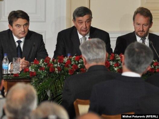 Članovi bh. Predsjedništva, Željko Komšić, Bakir Izetbegović i Nebojša Radmanović