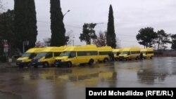 Протестная акция водителей маршруток Рустави-Тбилиси