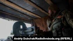 Останній український контрольно-пропускний пункт по дорозі на Донецьк неподалік Авдіївки, 27 березня 2016 року