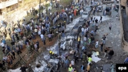Pamje nga Bejruti në vendin ku kanë ndodhur shpërthimet e sotme
