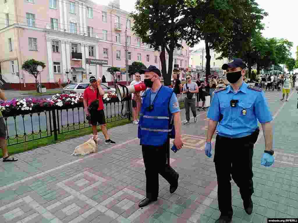 Ланцюг солідарності із затриманими в Білорусі. Гомель, 19 червня 2020 року