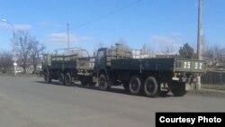 Военные машины, которые завозят для «ДНР» из России (фото автора)