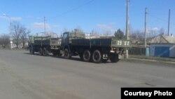 Військові машини, які завозять для «ДНР» з Росії (фото автора)