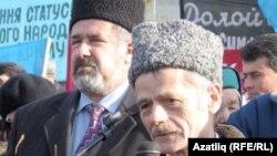 На снимке: лидеры крымско-татарской общины Рефат Чубаров и Мустафа Джемилев