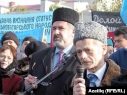 Мустафа Джемилев на митинге в Симферополе - до запрета на въезд в Крым